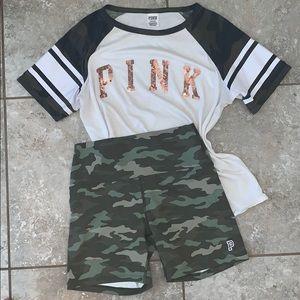 VS camouflage biker shorts and T-shirt bundle ✅
